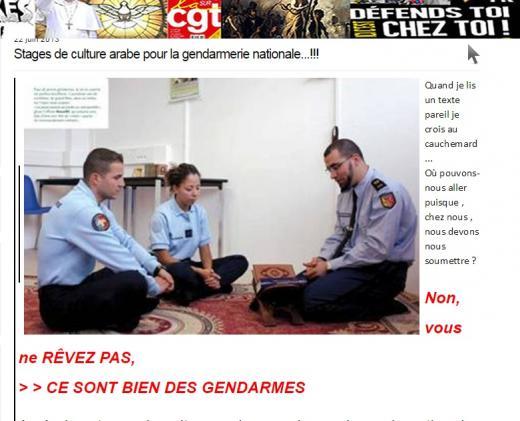 """""""Des gendarmes en stage de culture arabe"""" : une photo manipulée depuis sept ans"""