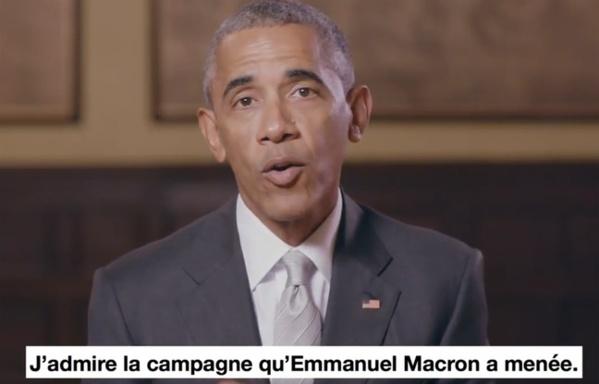 Présidentielle: Barack Obama soutient Emmanuel Macron sur Twitter