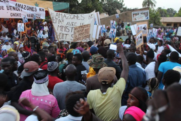 Photos: Benoit Sambou fait le plein dans son fief de Ziguinchor