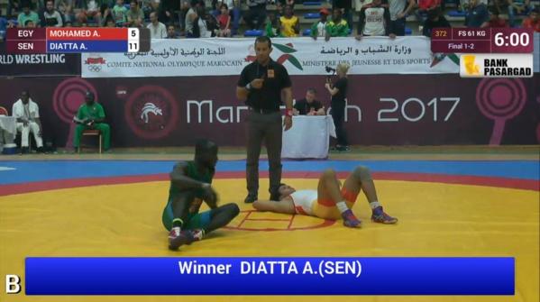 Lutte: Adama Diatta Champion d'Afrique !