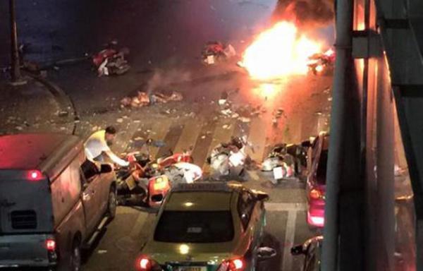Thaïlande: plus de 20 blessés dans l'explosion d'une bombe à Bangkok