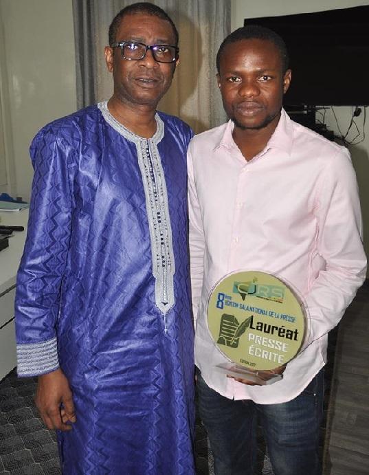 Audience: Youssou Ndour reçoit son champion Chimère Junior LOPY