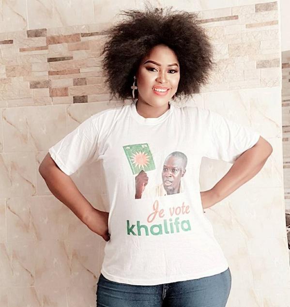 La Chanteuse Guigui, a voté pour la coalition Taxwu Sénégaal