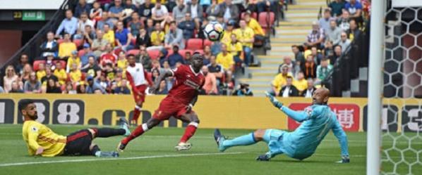 But de Sadio Mané : Liverpool débute par un nul contre Watford