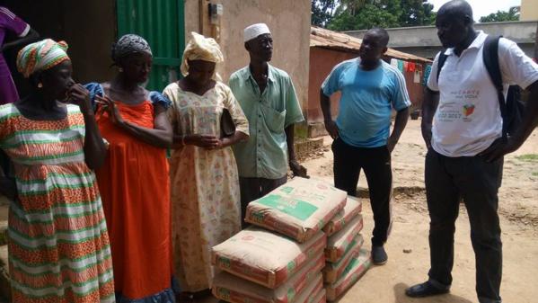 Ziguinchor: le Dr Ibrahima Mendy apporte son soutien aux sinistrés en ciment...