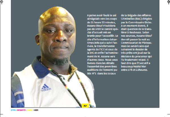 Le département d'Etat Américain sauve Assane Diouf