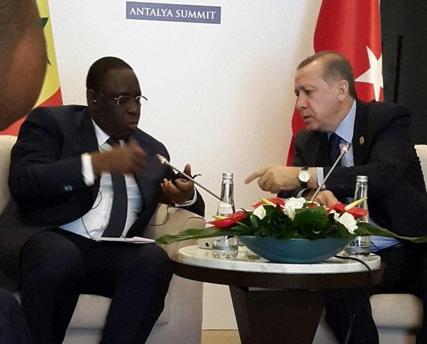 Les présidents Macky Sall et Recep Tayyip Erdogan se sont entretenus au téléphone