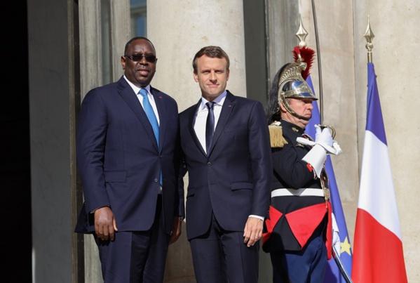 Le président Emmanuel Macron à Dakar