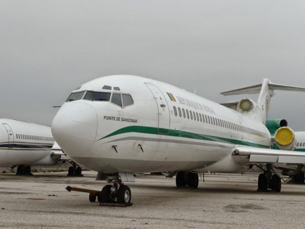 L'ancien avion présidentiel de retour à Dakar