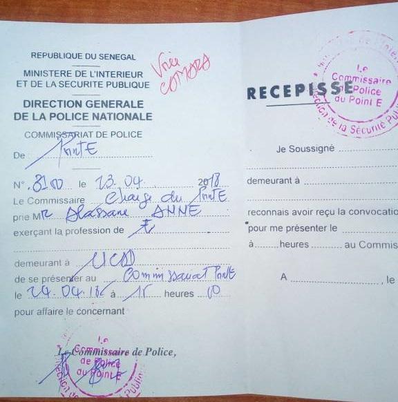 Dernière minute : Le fils de Cheikh Oumar Hann convoqué à la Police