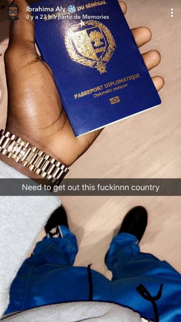 Le fils du ministre de l'intérieur insulte:  « envie de sortir de ce pays de merde»