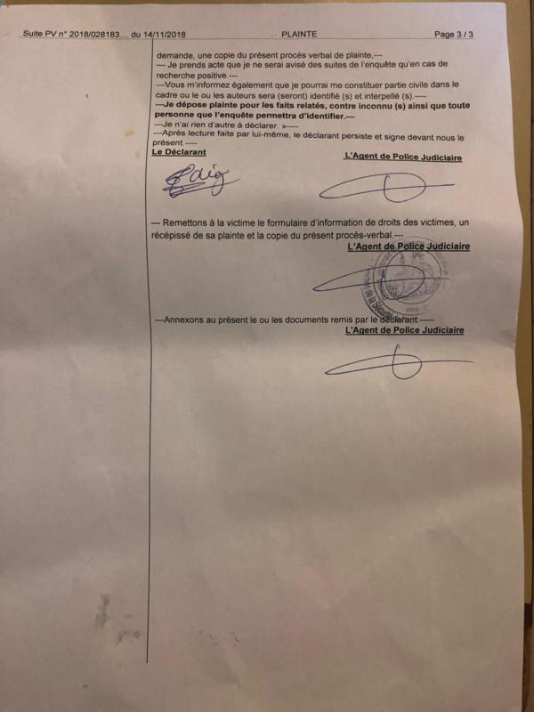 Paris: Plusieurs plaintes contre les nervis de l'APR (DOCUMENTS)