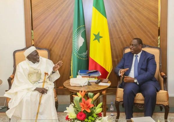 Le Marabout Fansou Bodian reçu au Palais