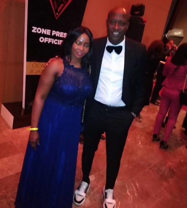 Théodoria Sagna, Ambassadrice de la marque DLC à la cérémonie des CAF Awards