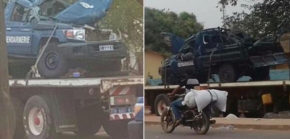 Le véhicule de la gendarmerie évitait un camion frigorifique