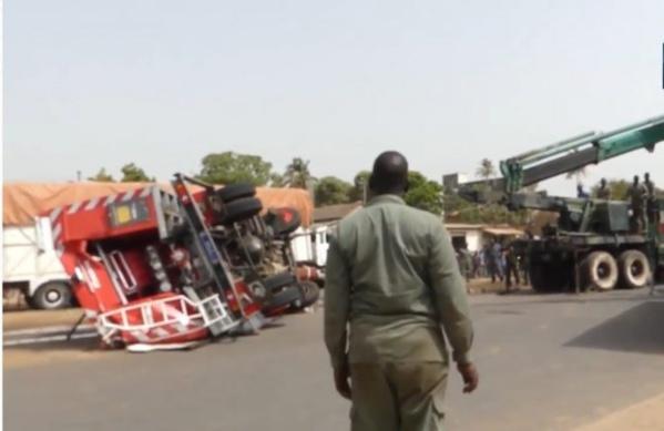 Ziguinchor: Un véhicule des Sapeurs Pompiers se renverse et fait 13 blessés