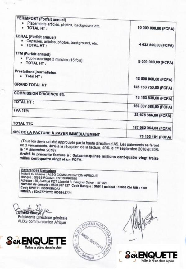Quand Bohn s'offre dix organes de presse à près de 200 millions de FCFA(Documents)