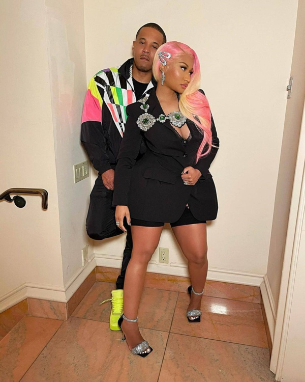 Nicki Minaj avec son mari Kenneth Petty