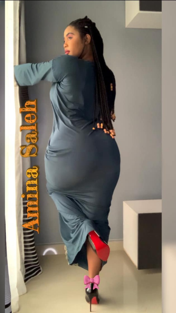 La jetsetteuse Amina Saleh dévoile sa taille