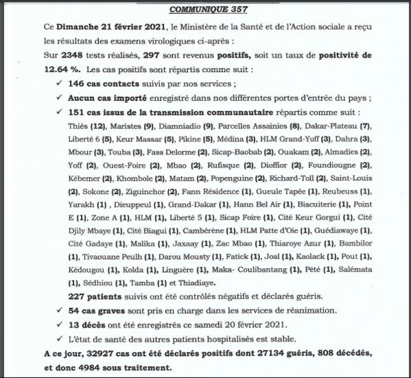 Covid-19 : le Sénégal dépasse la barre de 800 décès