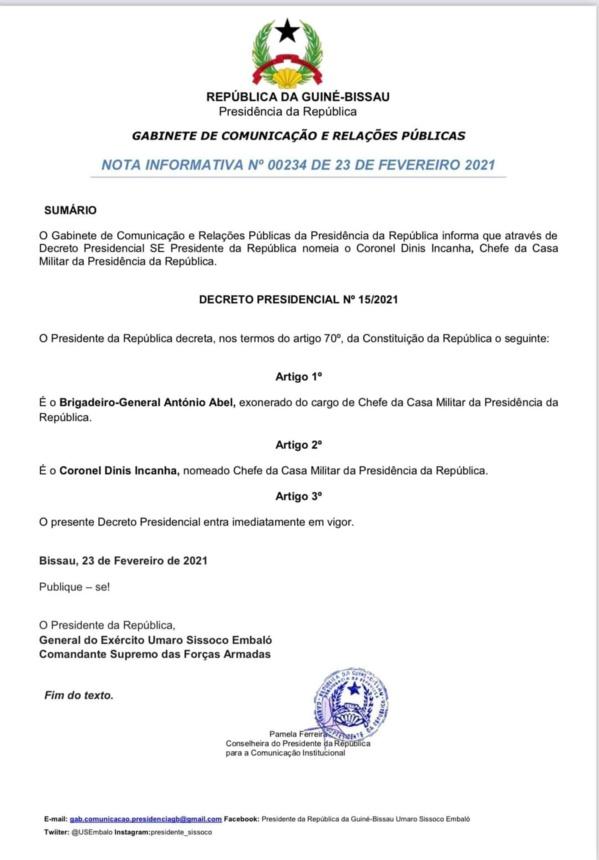 Guinée Bissau : Plusieurs officiers de l'armée promus