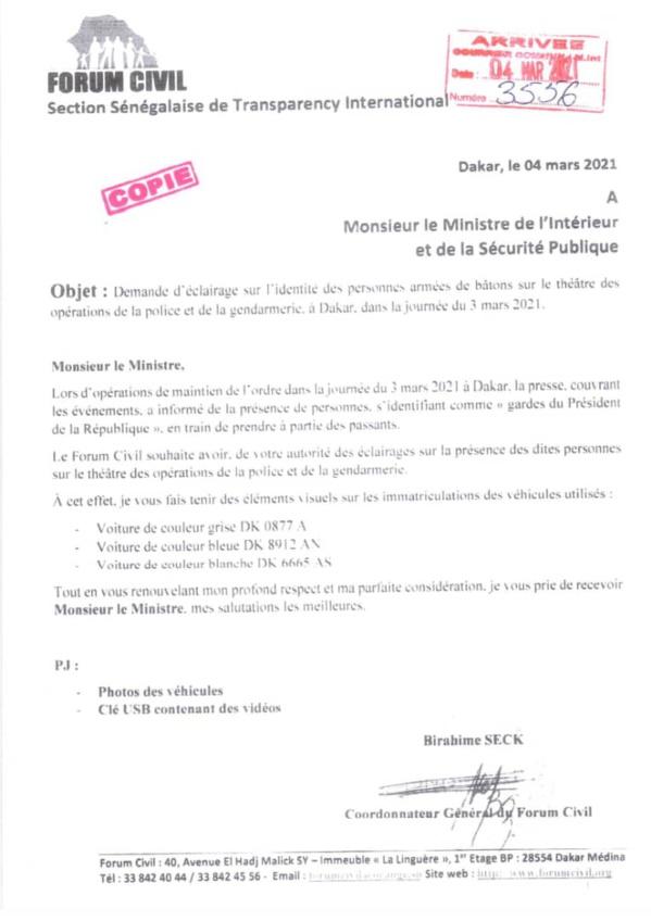 Les miliciens Apéristes risquent gros: Le forum civil a déposé une lettre auprès de...