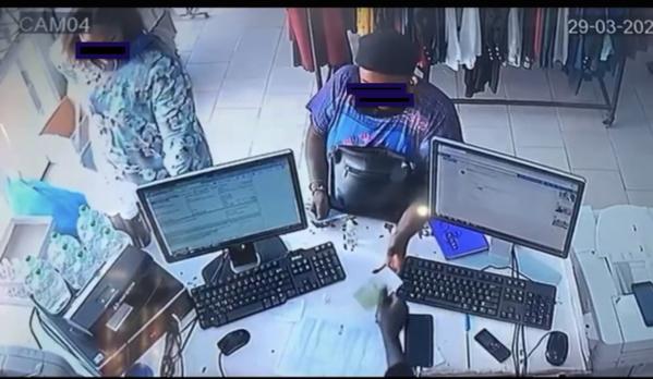 Vol dans un magasin :Une Traque lancée contre deux dames filmées en flagrant délit
