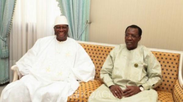 """Décès du président Déby : Alassane Ouattara salue la mémoire d'un """"grand patriote"""" pour la paix au Sahel"""