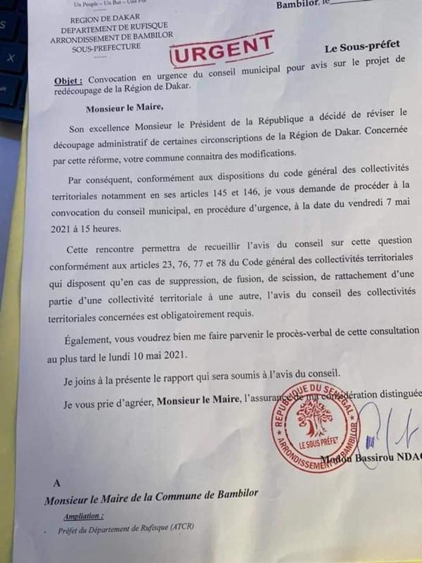 URGENT: Macky Sall ordonne la révision du découpage administratif de la région de Dakar (Document)