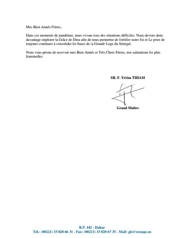 Les francs-maçons en conclave à Dakar ce samedi (Documents)