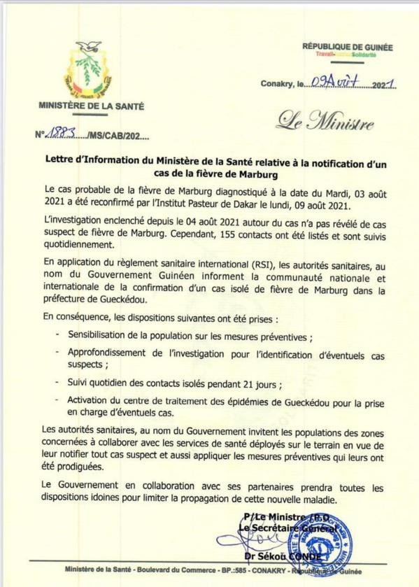 """Guinée : Après Ebola, la fièvre """"Marburg"""" fait son apparition"""