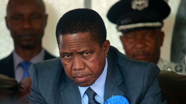 Zambie: le président sortant Edgar Lungu reconnaît sa défaite