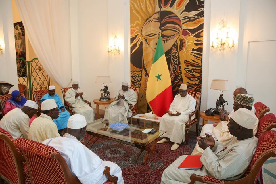 Palais: Macky Sall a reçu des responsables des 9 associations Islamiques