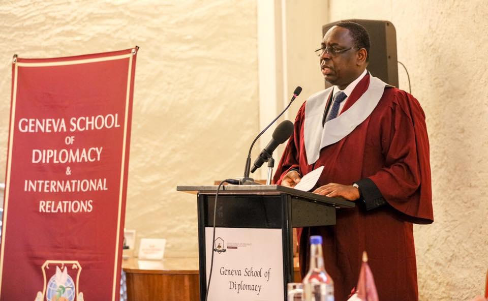 Titre de Docteur Honoris Causa par la Genève School of Diplomacy, remis à Macky