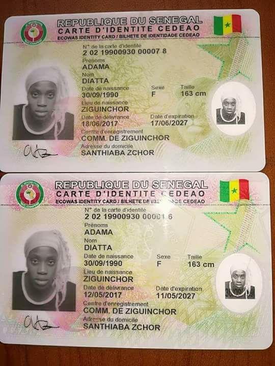 Scandale: une même personne titulaire de deux cartes d'identité nationale, avec des numéros d'identification nationale différents