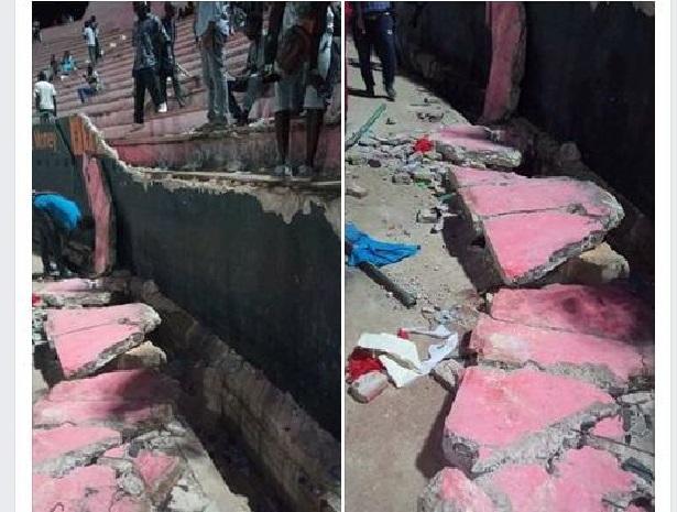 Stade Demba : une partie d'une tribune s'effondre et fait une dizaine morts