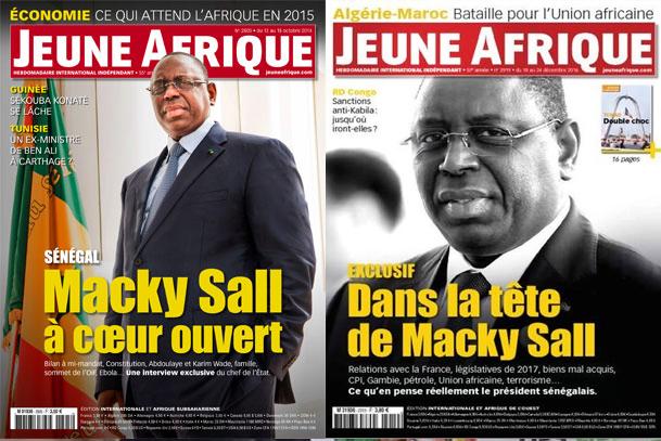 Macky Sall dépense l'argent du contribuable pour se vanter dans Jeune Afrique