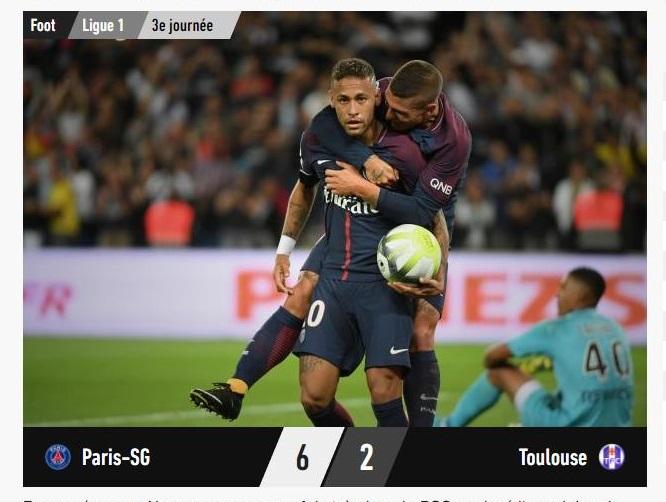 Le PSG et Neymar font le spectacle contre Toulouse (6-2)