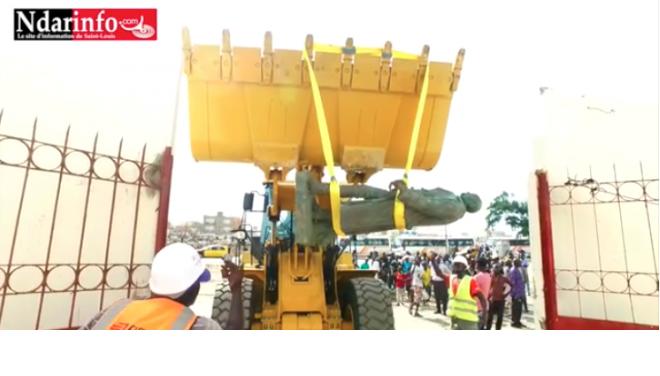 Vidéo: la statue de Faidherbe transférée...