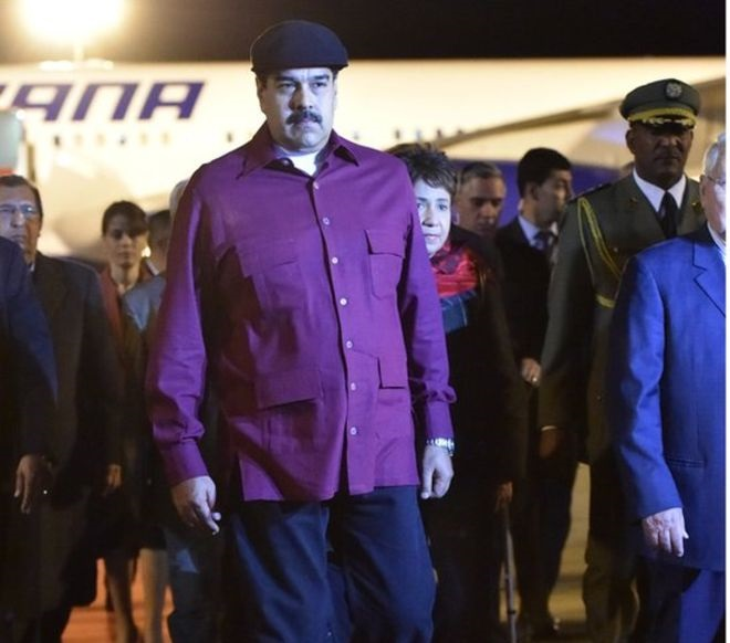 Le président Vénézuélien Nicolas Maduro en visite en Algérie