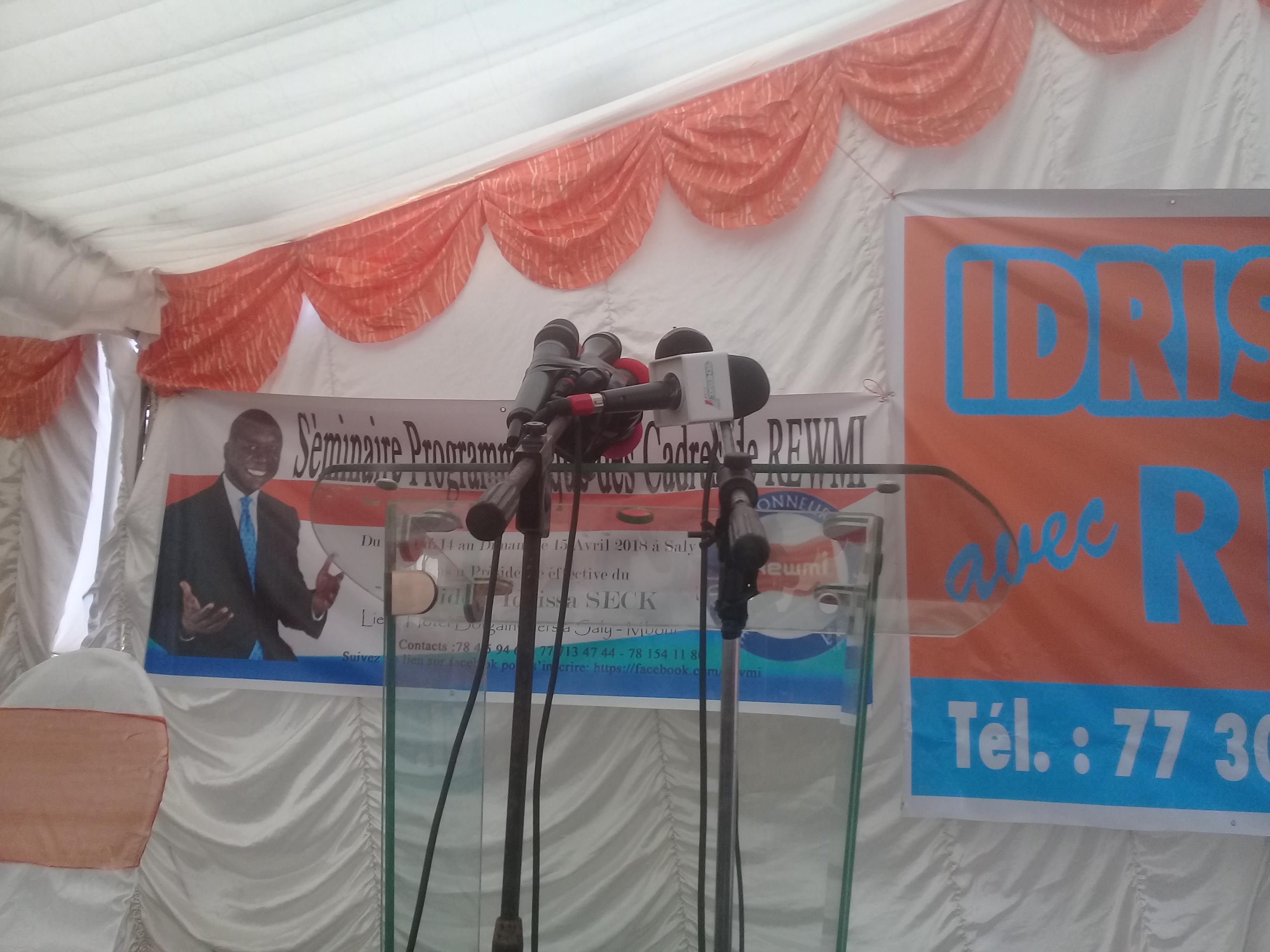 Suivez En direct la déclaration du président Idrissa Seck depuis Saly-Mbour