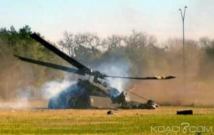 Dernière minute: Crash d'un hélicoptère militaire à Bassam