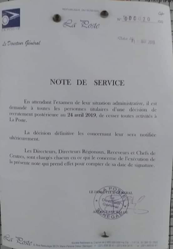 """Recrutement Massif à la Poste : Bibi Baldé lance le """"Grand Nettoyage"""""""