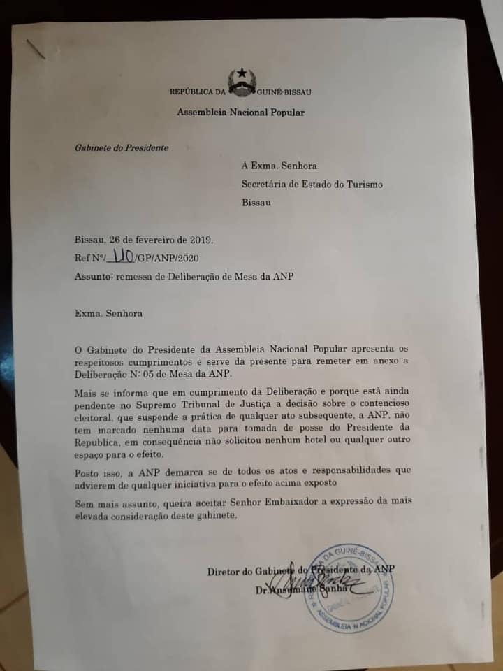 Investiture de Mballo: Le Président de l'assemblée nationale interdit la rencontre (Document)
