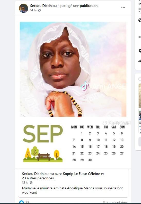 L'ex ministre Aminata Angélique Manga ?