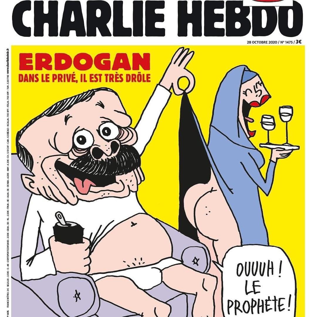 Charlie Hebdo provoque la Turquie avec une carricature de leur président de la république