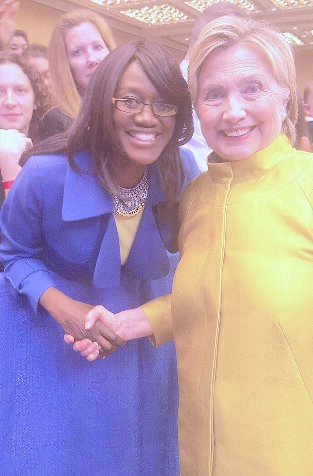 Dr Anta Sane et Hillary Clinton