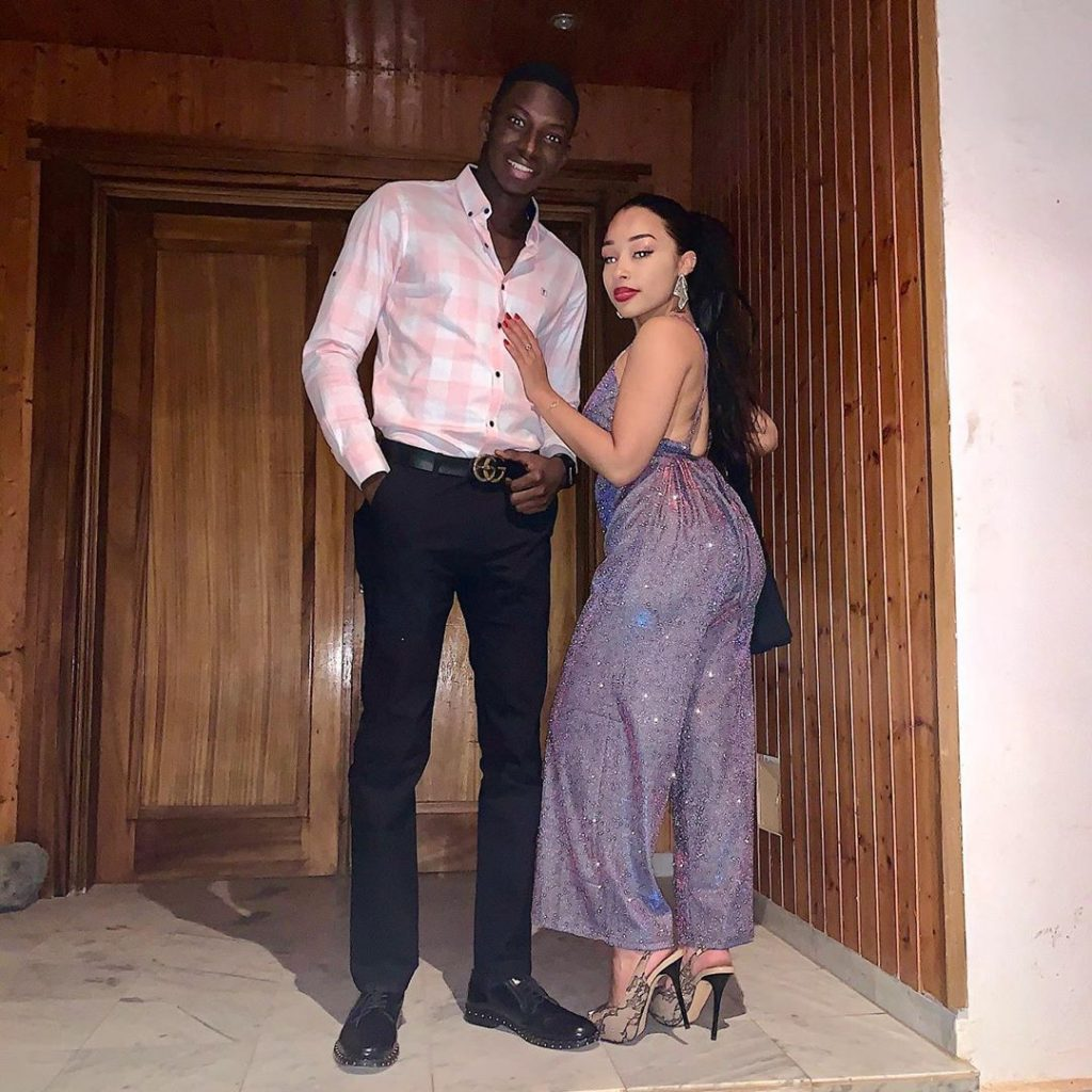 Ibrahima Aly Ngouille Ndiaye et copine Line Sow