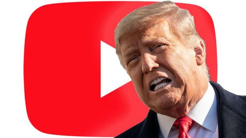 YouTube suspend la chaîne de Donald Trump