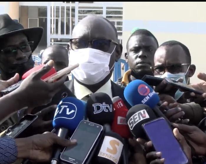 Me ElHadji Diouf à sa sortie du tribunal : «Ma cliente est confiante et elle a répondu à toutes les questions »